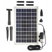 solariver Solar Water Pump kit 200GPH with 12v submersible water pump and 10 watt solar panel for DIY Solar Powered pond fountain water feature hyd...