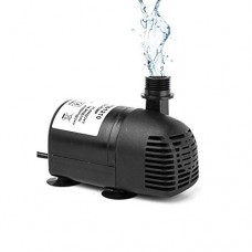 AEO 12V - 24V DC Brushless Submersible Water Pump, 410GPH, for Solar Fountain, Fish Pond, and Aquarium