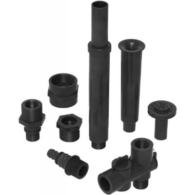 Algreen Products Fountain Nozzle Component Kit for Statuary Fountain Pumps and Pond Pumps, 3/4-Inch and 1/2-Inch