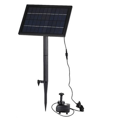 Anself 10v 5w Solar Power Brushless Water Pump Submersible