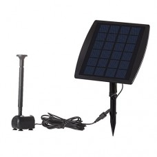 Anself 9V 2.5W Solar Power Panel Water Pump for Landscape Pool Garden Fountains Decorative