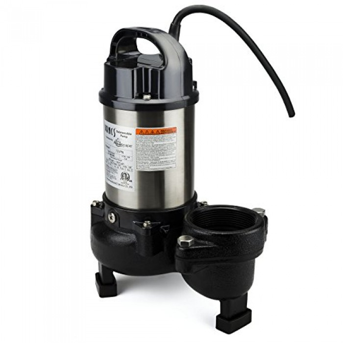 Aquascape 30391 tsurumi 12pn submersible pump for ponds for Pond skimmer filter
