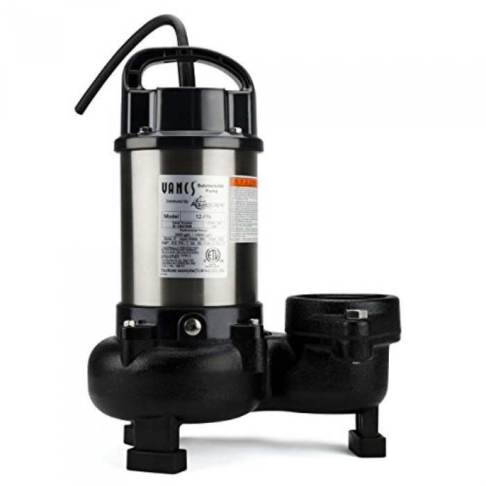 Aquascape 30391 tsurumi 12pn submersible pump for ponds for Submersible pond pump with filter