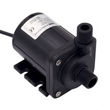 ZKSJ DC 12V 1.1A 13.2W Brushless Magnetic Drive Centrifugal Submersible Oil Water Pump 500L/H 5M/16ft DC40E-1250