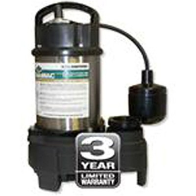 AY McDonald 6191-124 5040CUEFH25 Cast Iron Effluent Pump with 4/10 HP High Head 25-Feet Cord