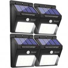 BAXIA TECHNOLOGY Bright 12 LEDs Waterproof Wireless Security Motion Sensor (4-PACK)