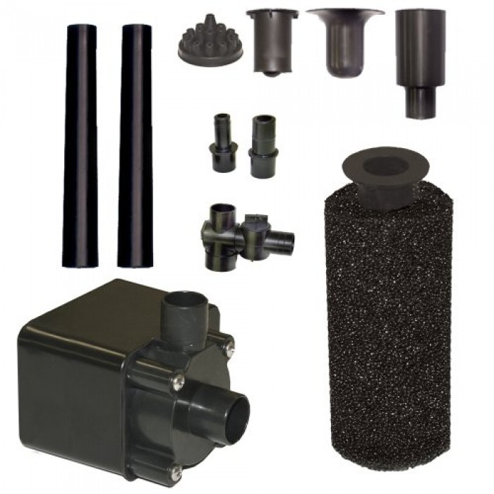 Beckett Corporation Pond Pump Kit With Prefilter And Nozzles 600 Gph