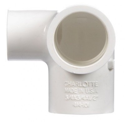 Charlotte PVC Side Outlet Elbow (PVC 02520 0800)