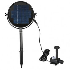 Anself Solar Panel Solar Powered Fountain Submersible Brushless Water Pump Kit for Bird Bath Pond Pull Lift
