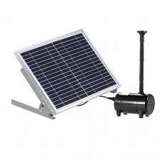Docooler 17V 10W Solar Power Water Pump for Garden Pond Fountains Landscape