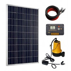 ECO-WORTHY Solar Pump Kit: 100 Watts Poly Solar Panel & 12V Water Pump for Pond, Fountain, Water Feature, Hydroponics, Aquarium, Aquaculture