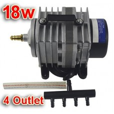 18w Commercial Air Pump 4 Outlet ACO Electromagnetic Air Compressor(Item #130009)