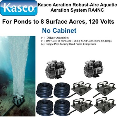 Kasco Marine Robust-Aire Aquatic Aeration System RA4NC - For Ponds to 8.0 Surface Acres, 120 Volts, No Cabinet Included