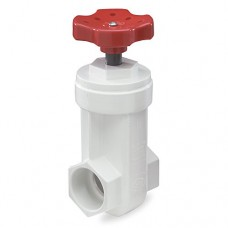 King Brothers Inc. GVP-1000-S 1-Inch Slip PVC Schedule 40 Gate Valve, White