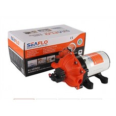 SeaFlo High Pressure Marine Water Pump 12 V DC 60 PSI 5.0 GPM on demand RV BOATS MARINE 2-PIN CONNECTOR SANTOPRENE by TOTAL MARINE