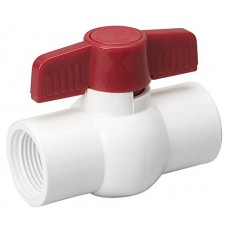 Mueller 107-134 Threaded 150-Psi PVC Ball Valve, 3/4-Inch