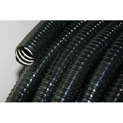 Ribbed Black Pond Hose 50mm / Two Inch 98 Foot Roll