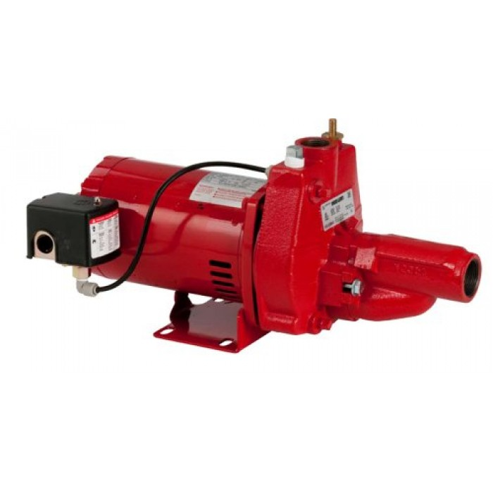 Red Lion Rjc 100 1 Hp Convertible Jet Pump With Injector Kit Cast Iron