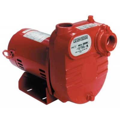 Red Lion RL-S50 1/2 HP 2940 GPH Self Priming Cast Iron Effluent Pump, 1-1/4-Inch NPT Suction and Discharge