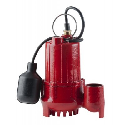 Red Lion RL-SC50T 1/2-HP 4300-GPH Sump Pump with Tethered Float Switch, Cast Iron