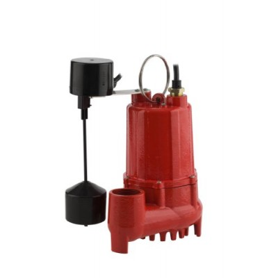 Red Lion Rl-SC50V 1/2 HP Cast Iron Sump Pump with Vertical Switch