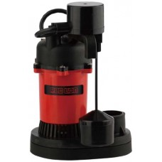Red Lion RL-SP33V 1/3-HP 3200 Plastic Sump Pump with Vertical Float Switch