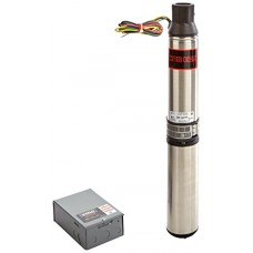 Red Lion RL22G10-3W2V 1-HP 22-GPM 3-Wire 230-Volt Submersible Deep Well Pump with Control Box