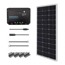 RENOGY® Solar Panel Starter Kit 100W Monocrystalline: One 100W Mono Solar Panel UL 1703 Listed+One 30Amp PWM Charge Controller+One pair of 20Ft MC4...