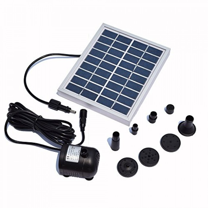 Rivenan 9v 2watts solar pump solar power panel kit water for Solar water pump pond