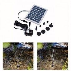 RivenAn 9V/2Watts Solar Pump, Solar Power Panel Kit Water Pump For Garden Pond Fountain Pool Plants Caring Bird bath