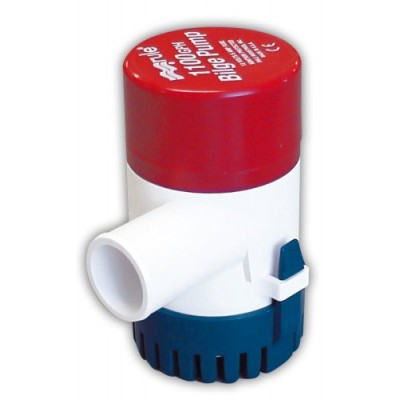 Rule 27D 1100 GPH Marine Bilge Pump, Non-Automatic, Submersible, 12 Volt