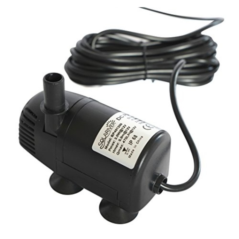 solariver Solar Water Pump kit 200GPH with 12v submersible ...