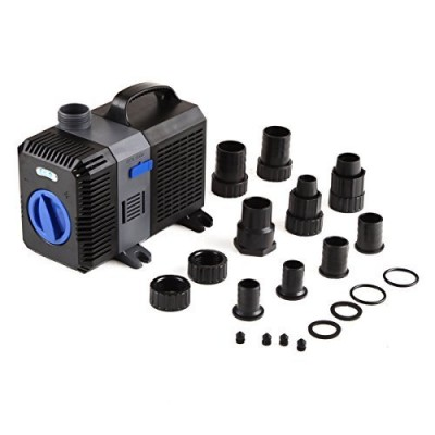 Trupow 1000GPH Flow Adjustable Frequency Electric Inline Garden Submersible Pond Filter Pump For Fish Tank Fountain Aquarium Waterfall Koi Salt Fre...