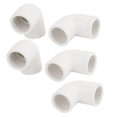 5 Pcs 20mm Inner Dia Right Angle Elbow PVC-U Pipe Connector Fittings