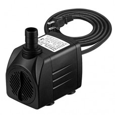 VicTsing [New Version] 400 GPH Submersible Pump, Water Pumps for Fish Aquarium, Fountains, Spout and Hydroponic Systems(25W, 5.9ft Power Cord, Two ...