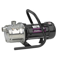 Wayne PLS100 1 HP Portable Stainless Steel Lawn Sprinkling Pump with Debris Strainer