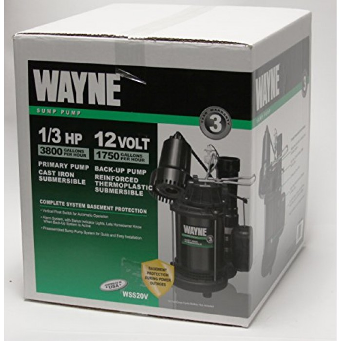Wayne 1 2 Hp Battery Backup Sump Pump System