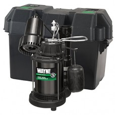 Wayne WSS20V Pre-Assembled 120 V/12V 1/3 HP Primary and Battery Backup Combination Sump Pump System
