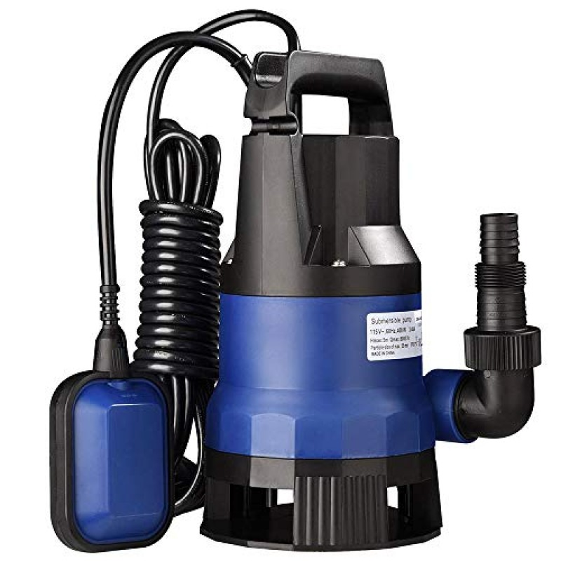 Yescom 1 2 Hp 1980gph 400w Submersible Dirty Clean Water